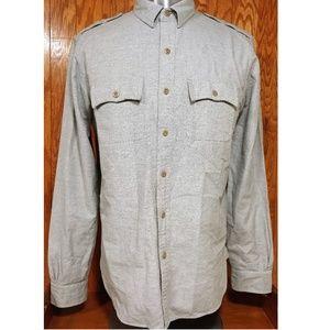Brooks Brothers Supima Cotton Military Style Sz  L
